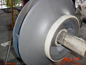 Pump impeller rebuilt using Belzona 1311 (Ceramic R-Metal)