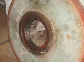 Bearing housing damaged due to mechanical failure dimensions