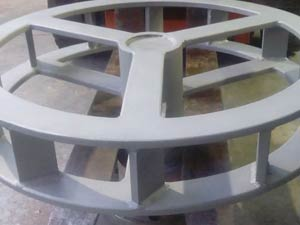 Carbon steel wheel after grit blasting