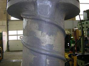 Restored bow thruster casing