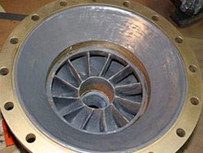 Rebuilt sea water pump