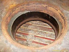 Damaged ferry's propulsion system