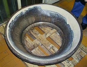 Lining of vessel part repaired and protected with Belzona 4111 (Magma-Quartz)